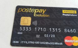 Carta PostePay Evolution di esempio